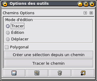 options des chemins
